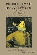Download Edward De Vere Was Shake speare Book