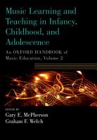 Music Learning and Teaching in Infancy  Childhood  and Adolescence PDF