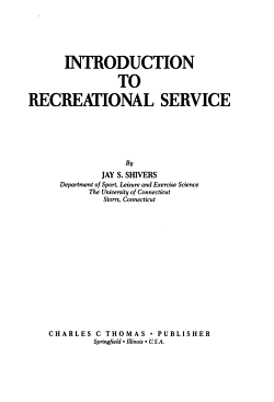 Introduction to Recreational Service PDF