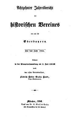 Jahresbericht des Historischen Vereins von Oberbayern PDF