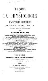 Leçons sur la physiologie et l'anatomie comparée de l'homme et des animaux: Volume 10, Part 1