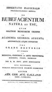 Diss. inaug. pharmacol. med. de rubefacientium natura et usu