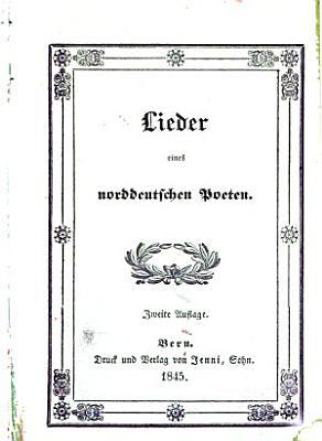 Lieder eines norddeutschen Poeten PDF