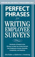 Perfect Phrases for Writing Employee Surveys PDF