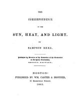 The Correspondence of the Sun  Heat  and Light     Second Edition PDF