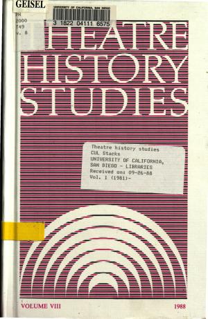 Theatre History Studies PDF