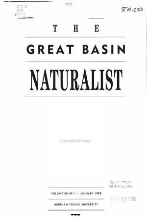 The Great Basin Naturalist PDF