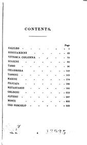Lives of the Most Eminent Literary and Scientific Men of Italy, Spain, and Portugal: Galileo, Guicciardini, Vittoria Colonna Guarini, Tasso, Chiabrera, Tassoni, Marini, Filicaja, Metastasio, Goldoni, Alfieri, Monti, Ugo Foscolo