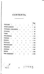 Lives of the Most Eminent Literary and Scientific Men of Italy, Spain, and Portugal: Galileo, Guicciardini, Vittoria Colonna Guarini, Tasso, Chiabrera, Tassoni, Marini, Filicaja, Metastasio, Goldoni, Alfieri, Monti, Ugo Foscolo