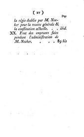 Reponse de M. de Calonne à l'écrit de M. Necker, publié en avril 1787: contenant l'examen des comptes de la situation des finances rendus en 1774, 1776, 1781, 1783, & 1787: avec des observations sur les résultats de l'Assemblée des Notables