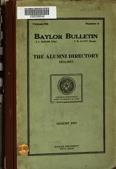 The Alumni Directory, 1854-1917 ...