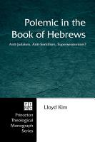 Polemic in the Book of Hebrews PDF