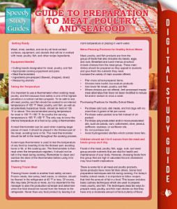 Guide To Preparation to Meat  Poultry And Seafood  Speedy Study Guides  PDF