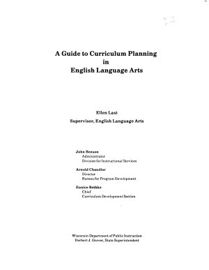A Guide to Curriculum Planning in English Language Arts PDF