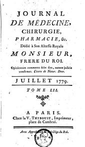 Journal de médecine, de chirurgie et de pharmacie: Volume 52