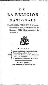 De la religion nationale: Volume1