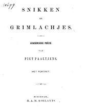 Snikken en grimlachjes: academische poëzie