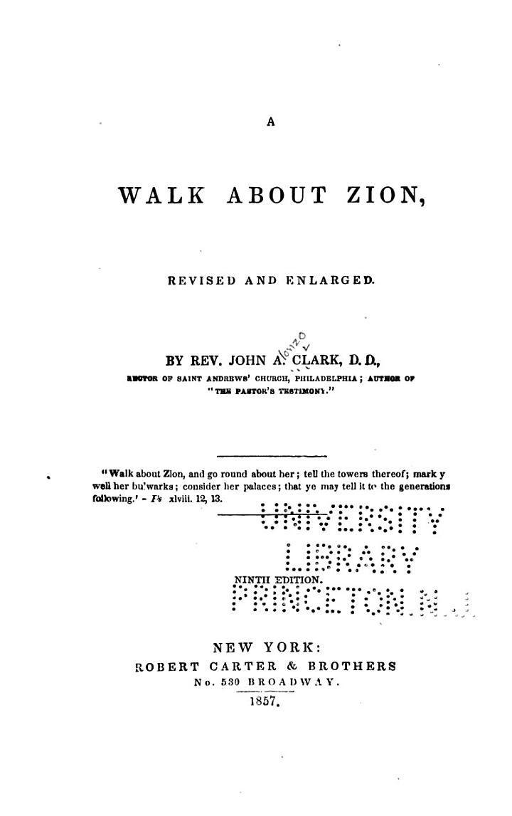 Walk about Zion