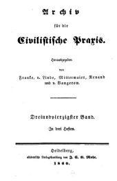 Archiv für die civilistische Praxis: Band 43