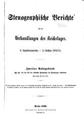 Verhandlungen des Reichstags: Stenographische Berichte, Band 2