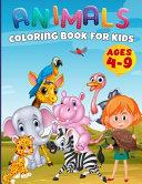 50 Animals Coloring Book Toddlers, Kindergarten and Preschool
