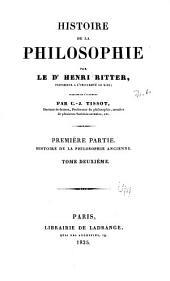 Histoire de la philosophie: Volume2