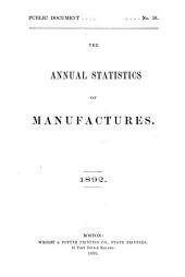 Annual Report on the Statistics of Manufactures: Volume 7