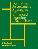 Formative Assessment Strategies for Enhanced Learning in Science  K 8 PDF