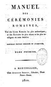 Manuel des cérémonies romaines...