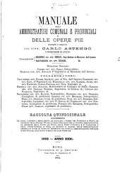 Manuale degli amministratori comunali e provinciali e delle opere pie ...: Volume 31