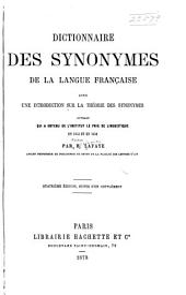 Dictionnaire des synonymes de la langue française: avec une introduction sur la théorie des synonymes ...