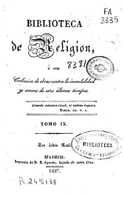 Biblioteca De Religi N 1827 318 P