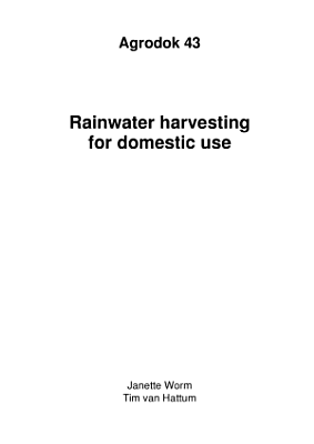 AD43E Rainwater harvesting for domestic use PDF