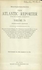 Atlantic Reporter: Volume 78
