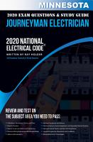 Minnesota 2020 Journeyman Electrician Exam Questions and Study Guide PDF