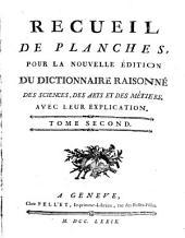 Encyclopédie, ou dictionnaire raisonné des sciences, des arts et des métiers: Recueil de planches ; 2, Volume38