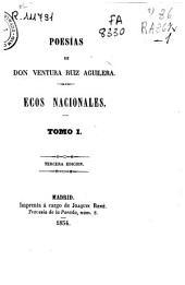 Poesias: Ecos Nacionales, Volumen 1