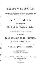 Catholic Education ... A sermon, etc