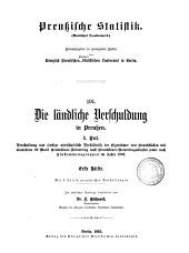Preussische Statistik: (Amtliches Quellenwerk)., Band 1;Band 191
