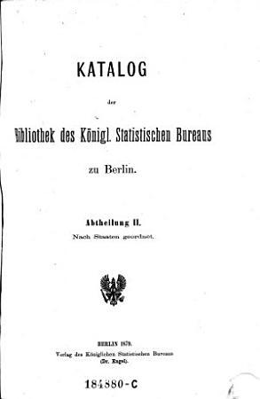 Katalog der Bibliothek des k  niglich statistischen Bureaus zu Berlin PDF