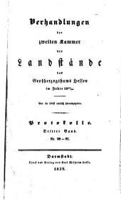 Verhandlungen der Zweiten Kammer der Landstände des Großherzogthums Hessen: 1838/39,3 (1839)