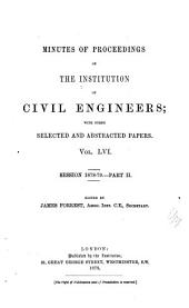 Minutes of Proceedings of the Institution of Civil Engineers: Volume 56
