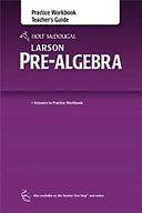 HOLT MCDOUGAL LARSON PRE ALGEB Book