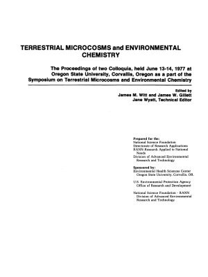 Terrestrial Microcosms and Environmental Chemistry PDF