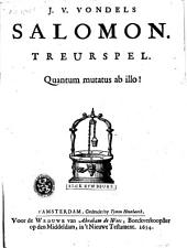 Salomon: treurspel
