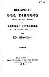 Relazione del viaggio fatto in alcuni luoghi di Abruzzo citeriore nella state del 1831