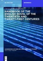 Handbook of the English Novel of the Twentieth and Twenty First Centuries PDF