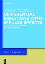 Differential Equations with Impulse Effects