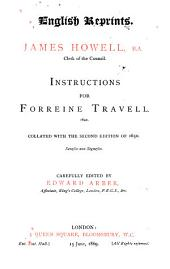 Instructions for Forreine Travell