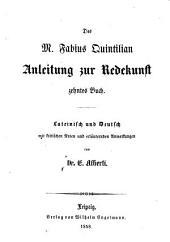 Anleitung zur Redekunst: 10. Buch